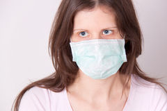 Woman in medical mask Royalty Free Stock Images