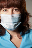 Woman in medical mask Royalty Free Stock Photography