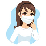 Woman Medical Mask Royalty Free Stock Photos