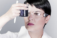 Woman medical research chemist experiment. Hospital stock images