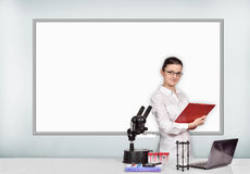 Woman medical or scientific researcher in laboratory Royalty Free Stock Photography