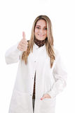 Woman in medical uniform Royalty Free Stock Images