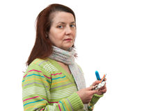 Woman with medicines Royalty Free Stock Photo