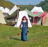 Woman with medieval costume Royalty Free Stock Image