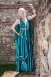 Woman In Medieval Times Stock Photography