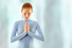 Woman meditate Stock Photo