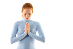 Woman meditate Royalty Free Stock Images