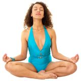 Woman meditates Royalty Free Stock Photo