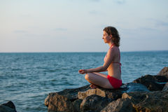 Woman that meditates Stock Photo