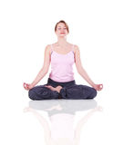 Woman meditating Royalty Free Stock Photography