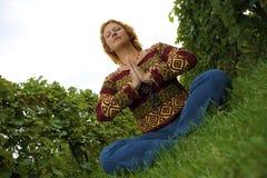 Woman meditating Royalty Free Stock Images
