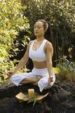 Woman meditating. Royalty Free Stock Image