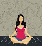 Woman meditating Stock Image