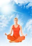 Woman meditating Stock Image