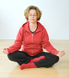 Woman meditating Royalty Free Stock Image