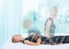 Free Woman Meditating Astral Projection Out Of Body Experience By Window Stock Photo - 89404280