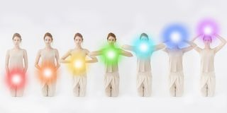 Seven Chakras concept royalty free stock images