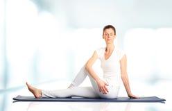Woman meditating Royalty Free Stock Image