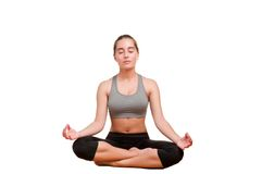 Woman Meditating Stock Photography