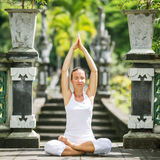 Woman meditating doing yoga Royalty Free Stock Photo