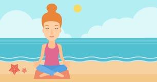 Woman meditating in lotus pose. Stock Photography