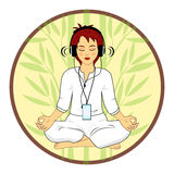 Woman in meditating pose Royalty Free Stock Photography
