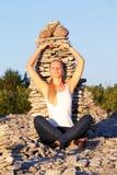 Woman meditating Stock Photos