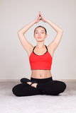 Woman meditating Royalty Free Stock Photo