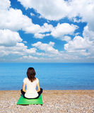 Woman in meditation Stock Images