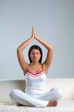 Woman & meditation Royalty Free Stock Image