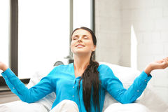 Woman in meditation Royalty Free Stock Photo