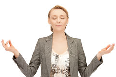 Woman in meditation Royalty Free Stock Photography