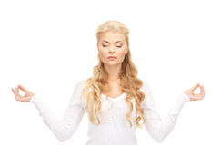 Woman in meditation Royalty Free Stock Images