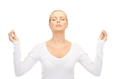 Woman in meditation Stock Image