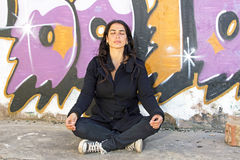Woman in meditation Stock Photography