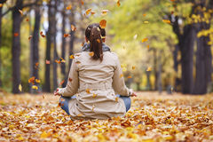 Woman meditator Royalty Free Stock Image