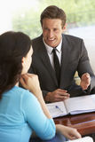Woman Meeting With Financial Advisor At Home Royalty Free Stock Photos