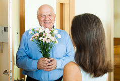 Free Woman Meeting Her Man Stock Image - 36681841