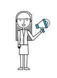 Woman with megaphone Stock Photos