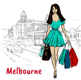 Woman in Melbourne Australia Stock Photography