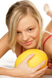 Woman with melon Royalty Free Stock Image
