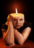 Woman melting away Royalty Free Stock Image