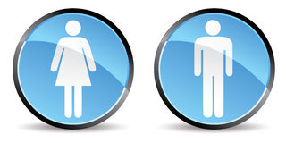 Woman men icon Stock Photos