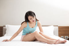 Woman with menstruation royalty free stock photos