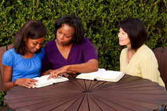 Woman mentoing an African American teenager. Royalty Free Stock Photos