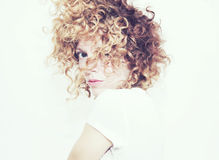 Messy Curls Royalty Free Stock Photos
