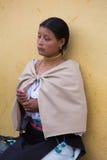 Woman from the Mestizo ethnic group in Otavalo, Ecuador Stock Photos