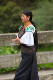 Woman from the Mestizo ethnic group in Otavalo, Ecuador Royalty Free Stock Images