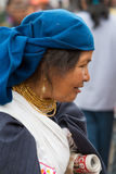Woman from the Mestizo ethnic group in Otavalo, Ecuador Royalty Free Stock Image