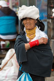 Woman from the Mestizo ethnic group in Otavalo, Ecuador Royalty Free Stock Photography
